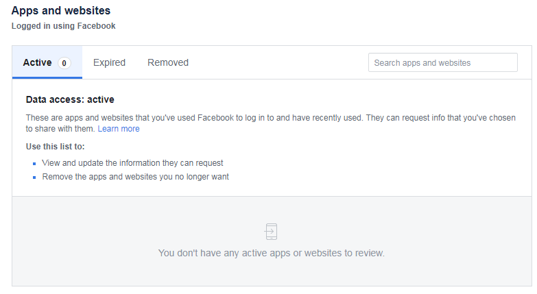 Tips to improve your Facebook Security - Third-party